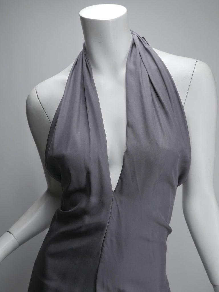 ete 2012, V Neck, Sleeveless, Silver silk halter dress