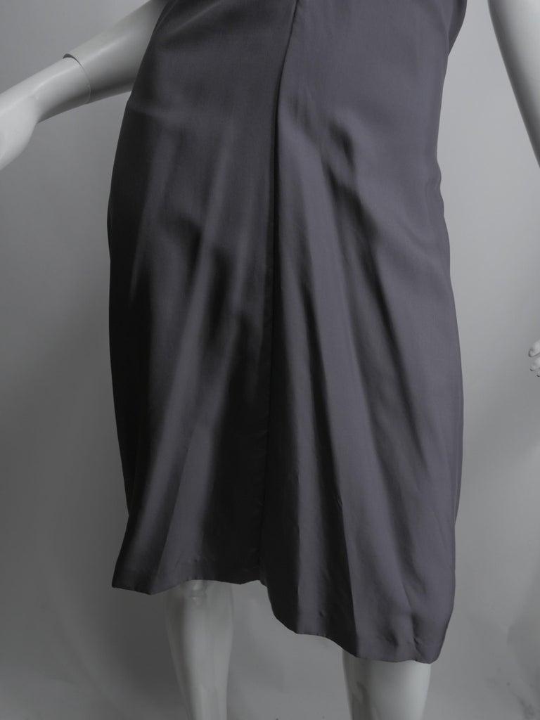 Women's or Men's Yves Saint Laurent Silver Silk Halter Dress For Sale
