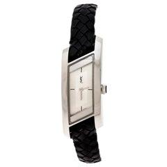 Yves Saint Laurent Silver Stainless Steel Rive Gauche Women's Wristwatch 17 mm