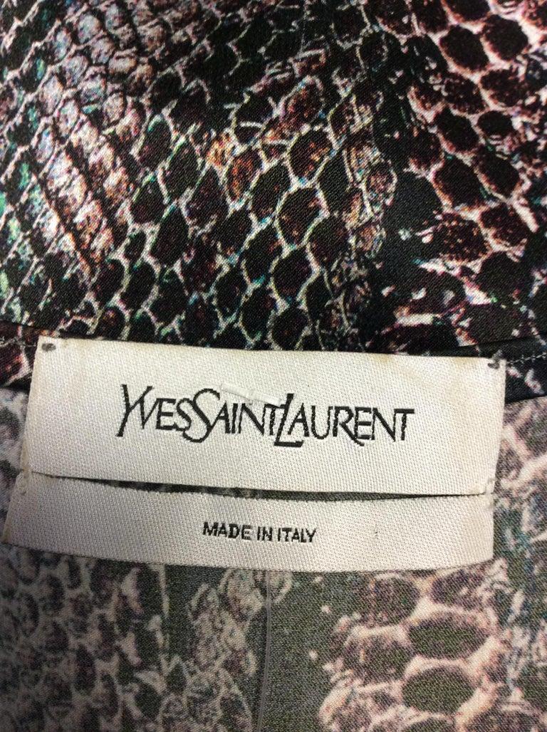 Yves Saint Laurent Snake Skin Print Silk Blouse 2