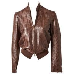 Yves Saint Laurent Snakeskin Bomber Jacket