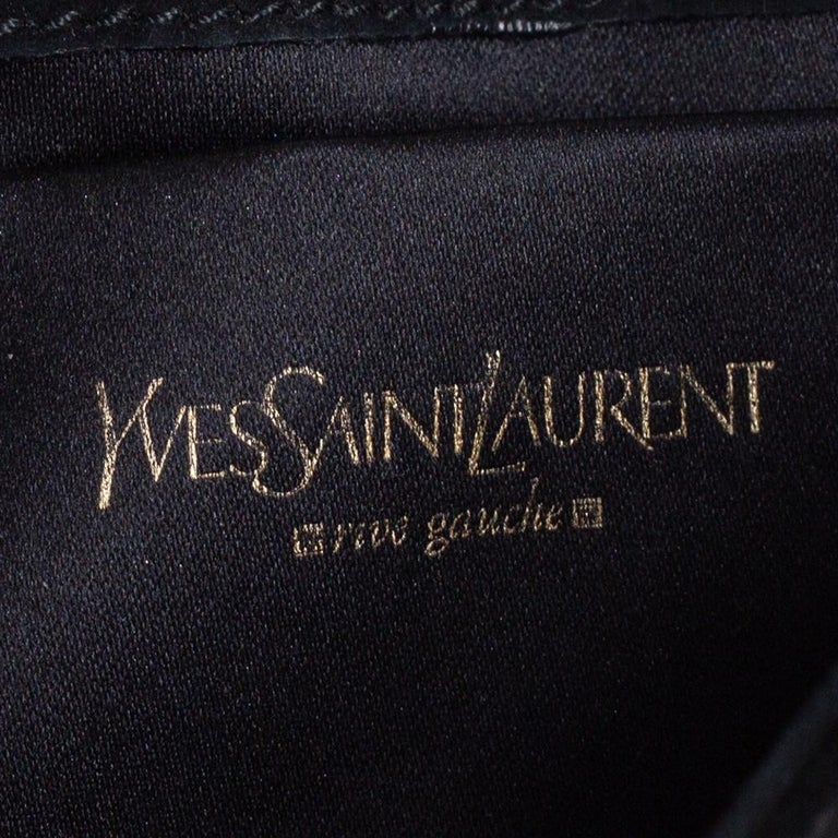 Women's Yves Saint Laurent Suede and Sequins Fringe Flap Clutch For Sale
