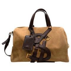 Yves Saint Laurent Suede & Leather Weekend Bag
