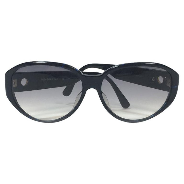 7a1ed2ee176 YVES SAINT LAURENT Sunglasses in Dark Blue Plexiglass at 1stdibs