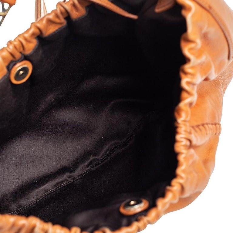 Yves Saint Laurent Tan Leather Vincennes Mombasa Hobo For Sale 5