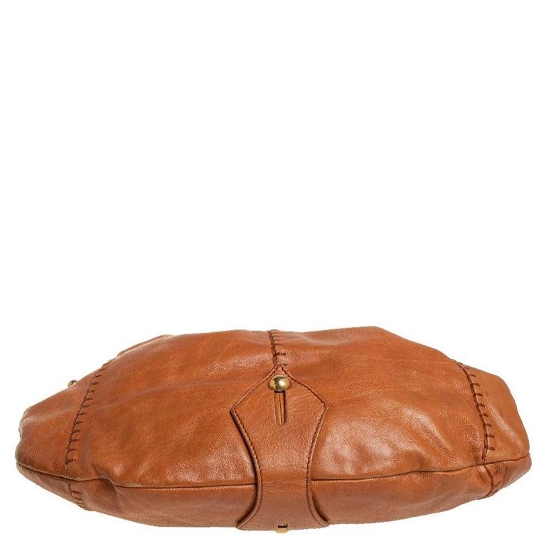 Women's Yves Saint Laurent Tan Leather Vincennes Mombasa Hobo For Sale
