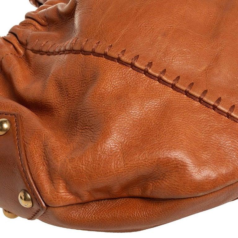 Yves Saint Laurent Tan Leather Vincennes Mombasa Hobo For Sale 1