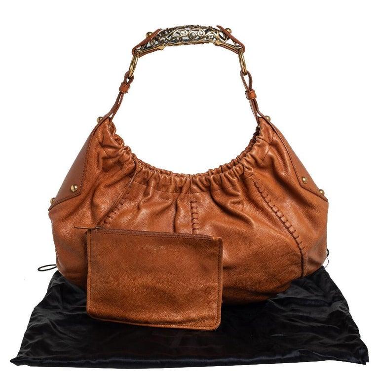 Yves Saint Laurent Tan Leather Vincennes Mombasa Hobo For Sale 3