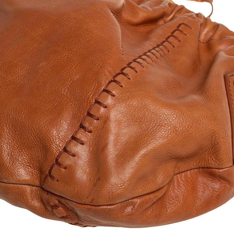 Yves Saint Laurent Tan Leather Vincennes Mombasa Hobo For Sale 4
