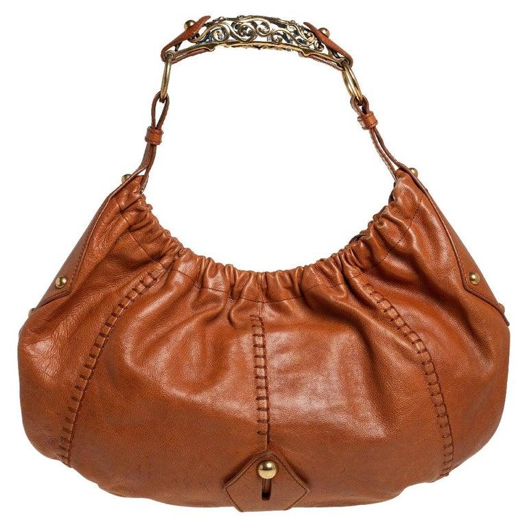 Yves Saint Laurent Tan Leather Vincennes Mombasa Hobo For Sale