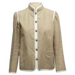 Yves Saint Laurent Tan Linen Jacket