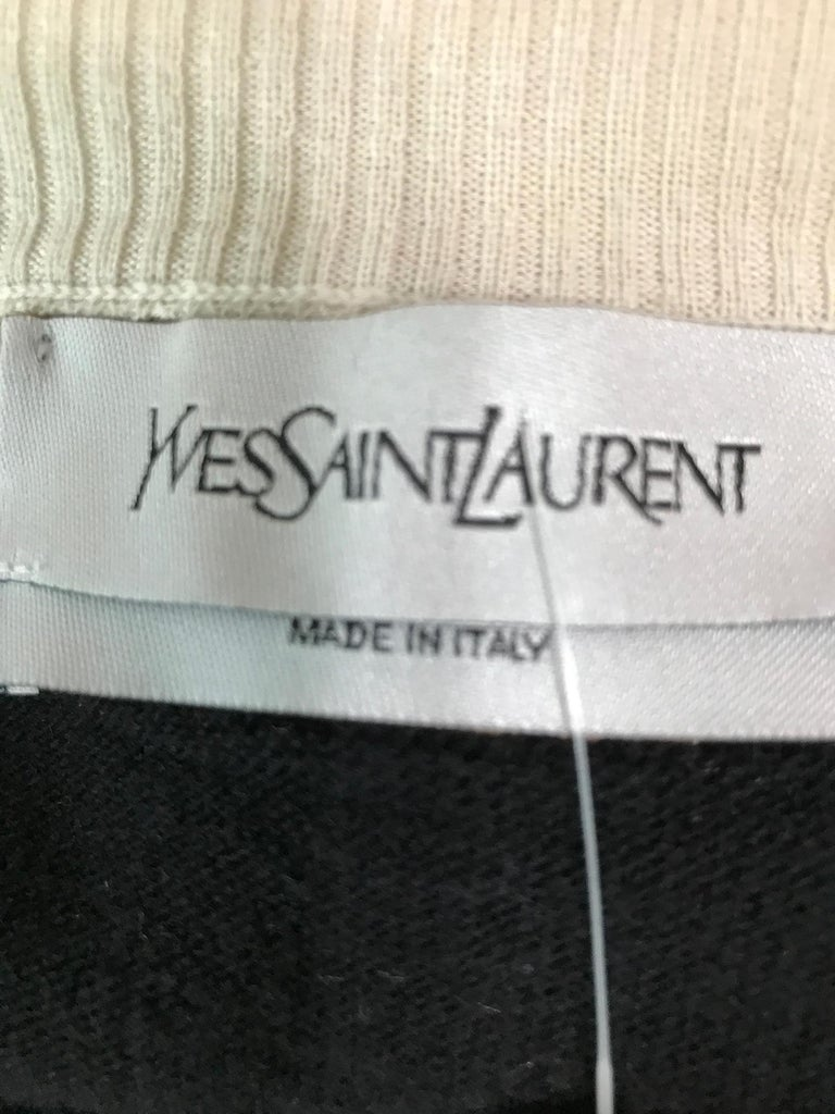 Yves Saint Laurent Three in one cropped cardigan Sweater  For Sale 7