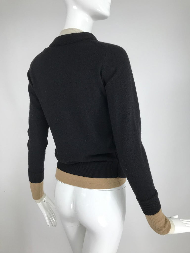 Black Yves Saint Laurent Three in one cropped cardigan Sweater  For Sale