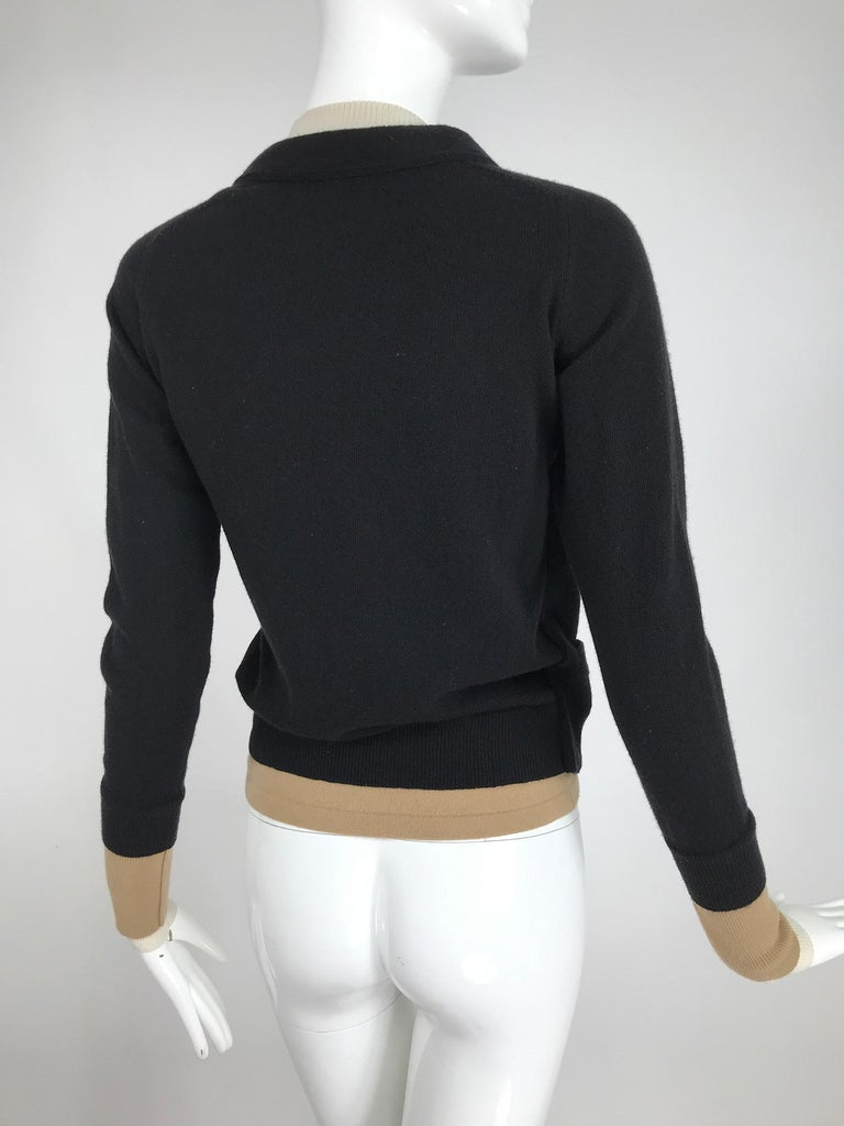 Yves Saint Laurent Three in one cropped cardigan Sweater  In Good Condition For Sale In West Palm Beach, FL
