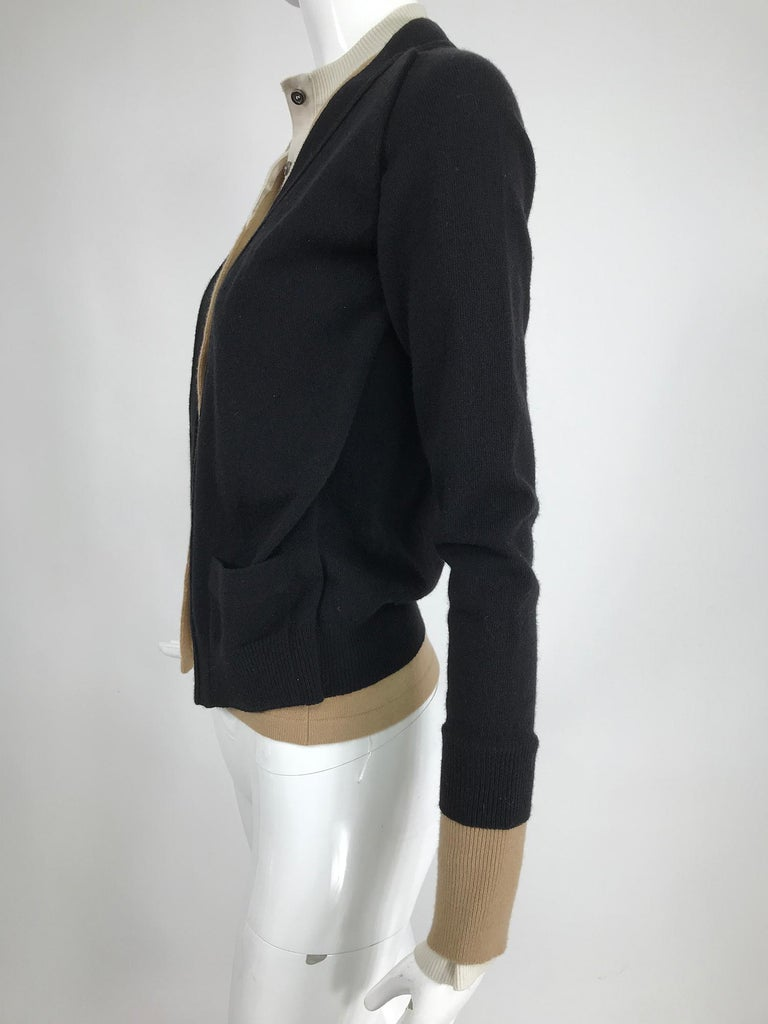 Yves Saint Laurent Three in one cropped cardigan Sweater  For Sale 1