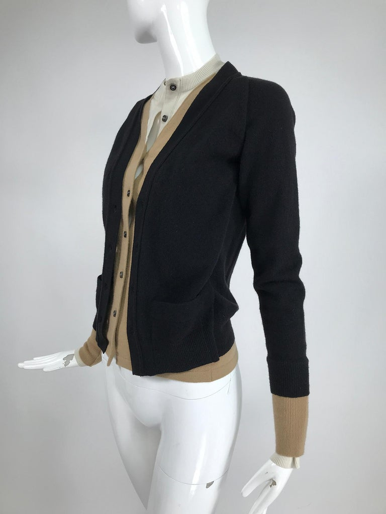 Yves Saint Laurent Three in one cropped cardigan Sweater  For Sale 2