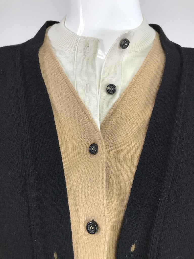 Yves Saint Laurent Three in one cropped cardigan Sweater  For Sale 3