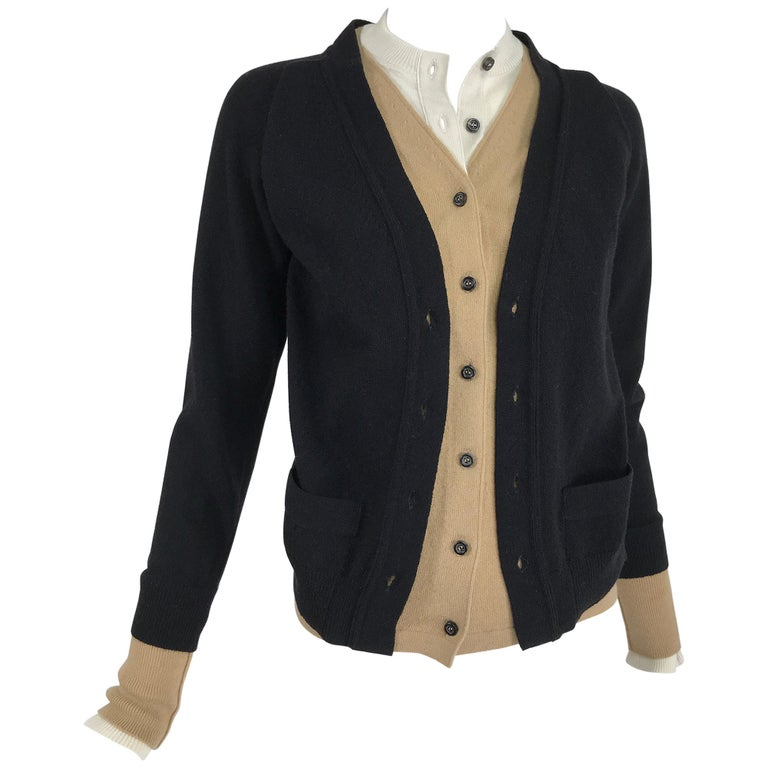 Yves Saint Laurent Three in one cropped cardigan Sweater  For Sale