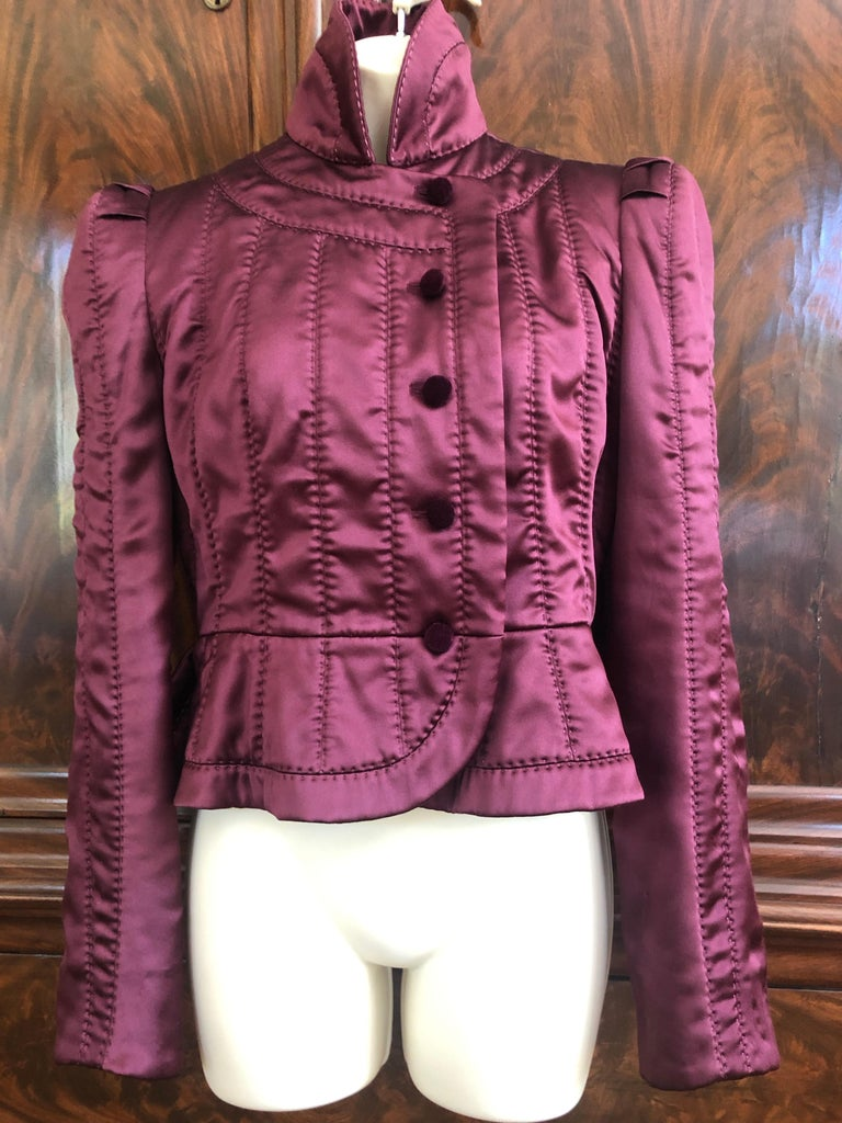 d84706e7e91 Yves Saint Laurent Tom Ford Fall 2004 Pagoda Shoulder Jacket Jacket is  marked size 40 BUST