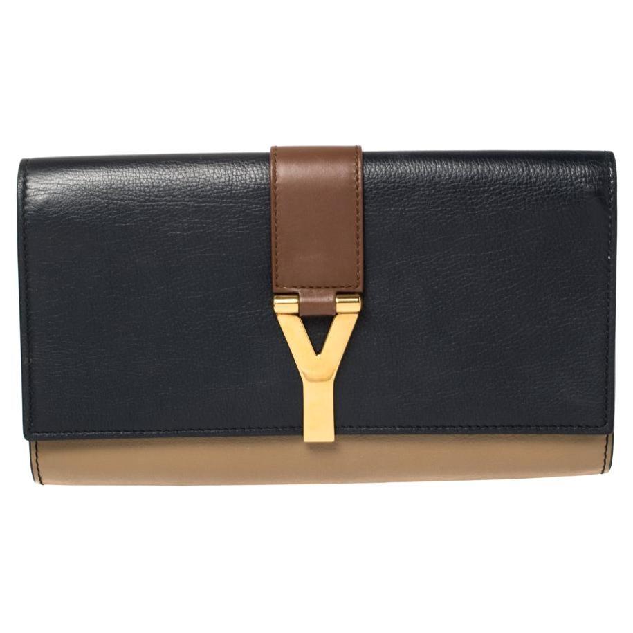 Yves Saint Laurent Tri Color Leather Y-Ligne Clutch