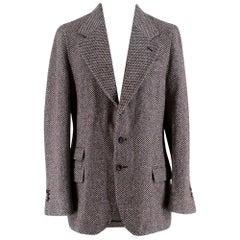 Yves Saint Laurent Tweed Tailored Jacket - Size IT 50R
