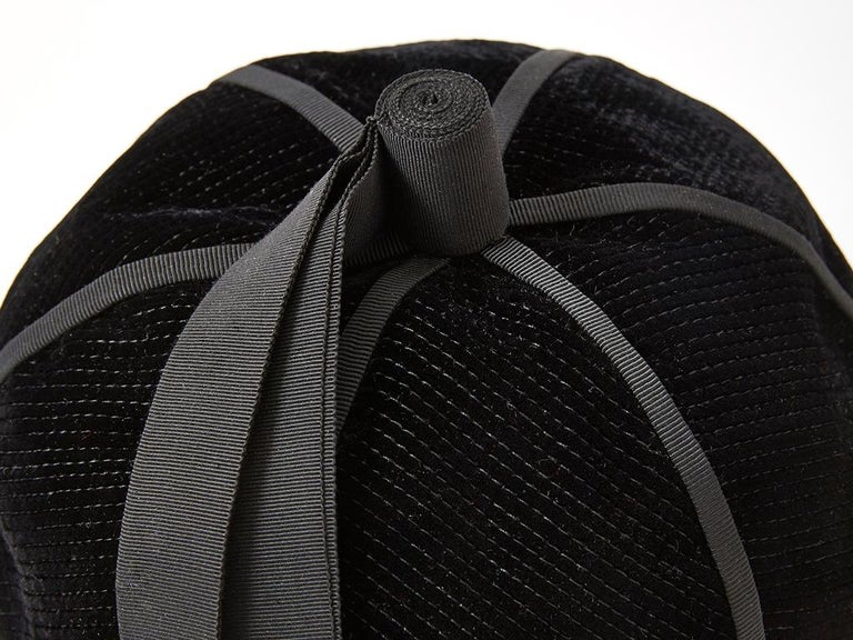 Black Yves Saint Laurent Velvet Beanie For Sale