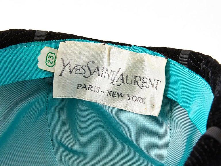 Women's Yves Saint Laurent Velvet Beanie For Sale