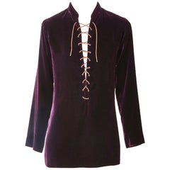 Yves Saint Laurent Velvet Safari Tunic