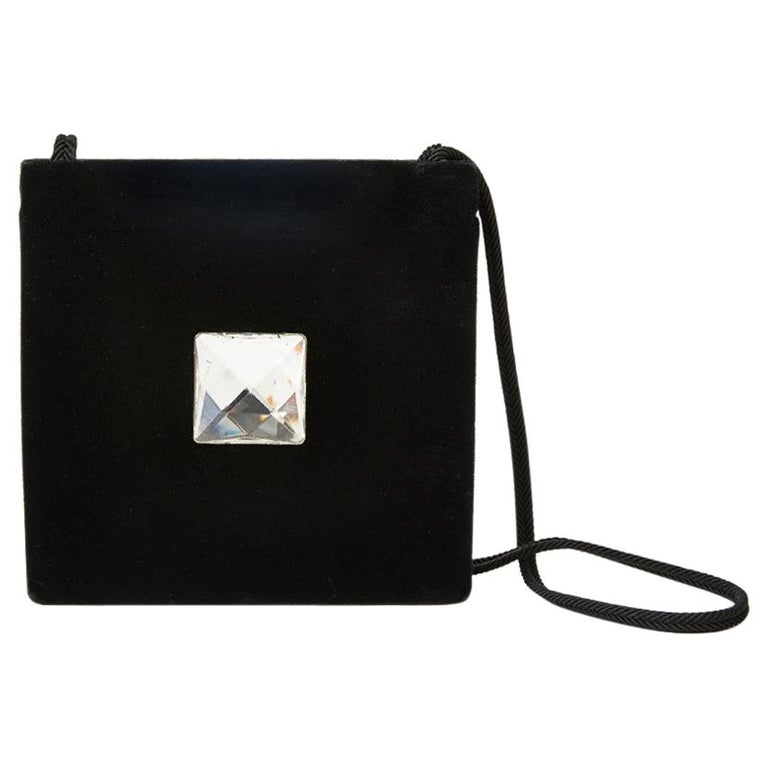 Yves Saint Laurent Velvet Shoulder Bag For Sale