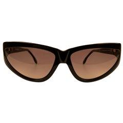 Yves Saint Laurent Vintage 80s Black Sunglasses 9004 P311 Shades
