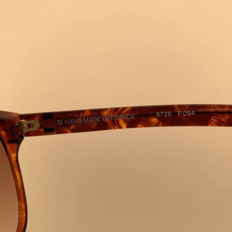 Yves Saint Laurent Vintage 80s Brown Marbled Sunglasses 8726 P094 For Sale 3