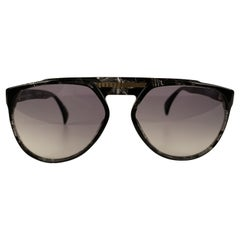 Yves Saint Laurent Vintage 80s Marbled Sunglasses 8726 P093