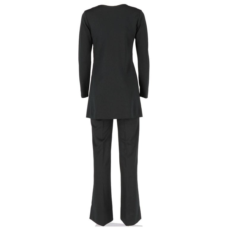 Women's Yves Saint Laurent Vintage Black Suit, 1970s For Sale