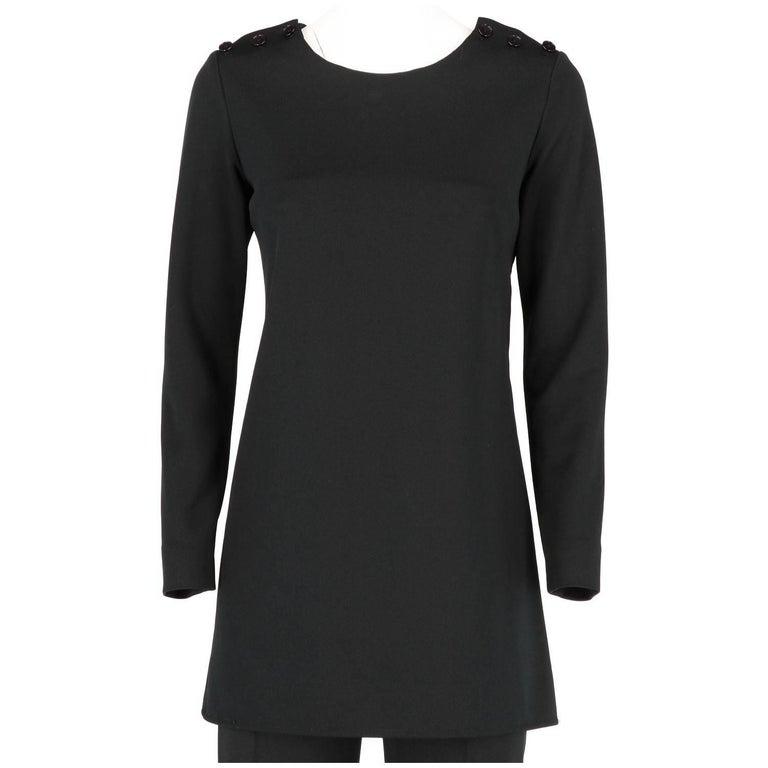 Yves Saint Laurent Vintage Black Suit, 1970s For Sale 1