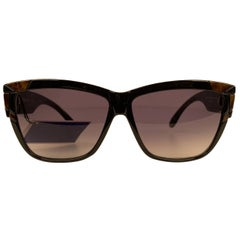 Yves Saint Laurent Vintage Black Sunglasses Deauville 8859-1 Y 142