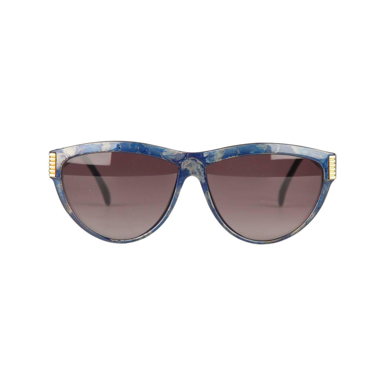 4f467a96cb GIANFRANCO FERRE Vintage Black Gold MINT Alutanium Sunglasses GFF 30-582  NOS For Sale at 1stdibs
