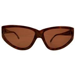 Yves Saint Laurent Vintage Brown Sunglasses 9004 P300 Wood Effect