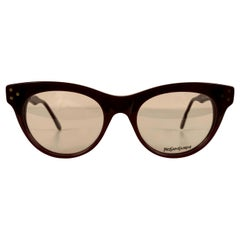 Yves Saint Laurent Vintage Burgundy Procris 52mm Eyeglasses Frame