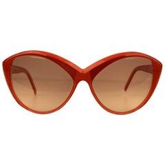 Yves Saint Laurent Vintage Cat Eye Red Sunglasses 8702 P 72