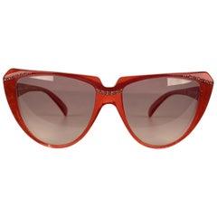 Yves Saint Laurent Vintage Cat Eye Sunglasses 8704 P 74 with Rhinestones