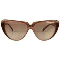Yves Saint Laurent Vintage Cat Eye Sunglasses Rhinestones 8 704 PO 74