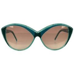 Yves Saint Laurent Vintage Cat Eye Turquoise Sunglasses 8702 P 71