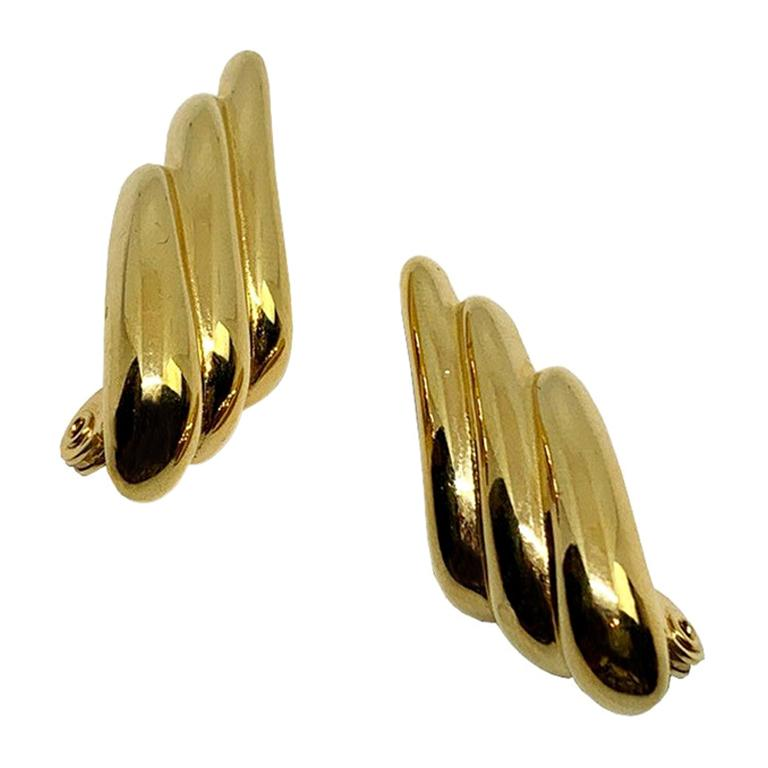 YVES SAINT LAURENT Vintage Clip Earrings For Sale