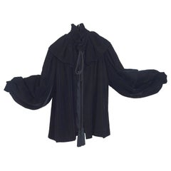 Yves Saint Laurent vintage fall 1980 short black velvet jacket