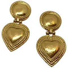 YVES SAINT LAURENT Vintage Heart Clip-on Earrings