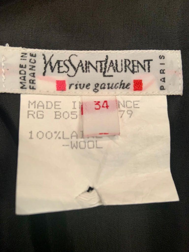 Yves Saint Laurent Vintage Le Smoking Tuxedo Suit  Never Worn YSL For Sale 6