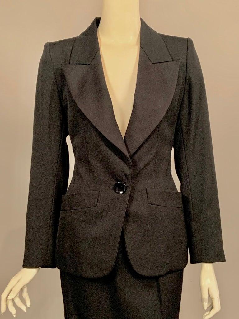 Black Yves Saint Laurent Vintage Le Smoking Tuxedo Suit  Never Worn YSL For Sale