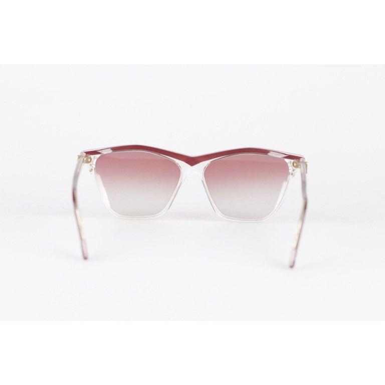 YVES SAINT LAURENT Vintage MINT Sunglasses HYRTHIOS 58mm w/Rhinestones For Sale 5