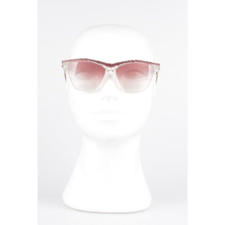 YVES SAINT LAURENT Vintage MINT Sunglasses HYRTHIOS 58mm w/Rhinestones For Sale 6