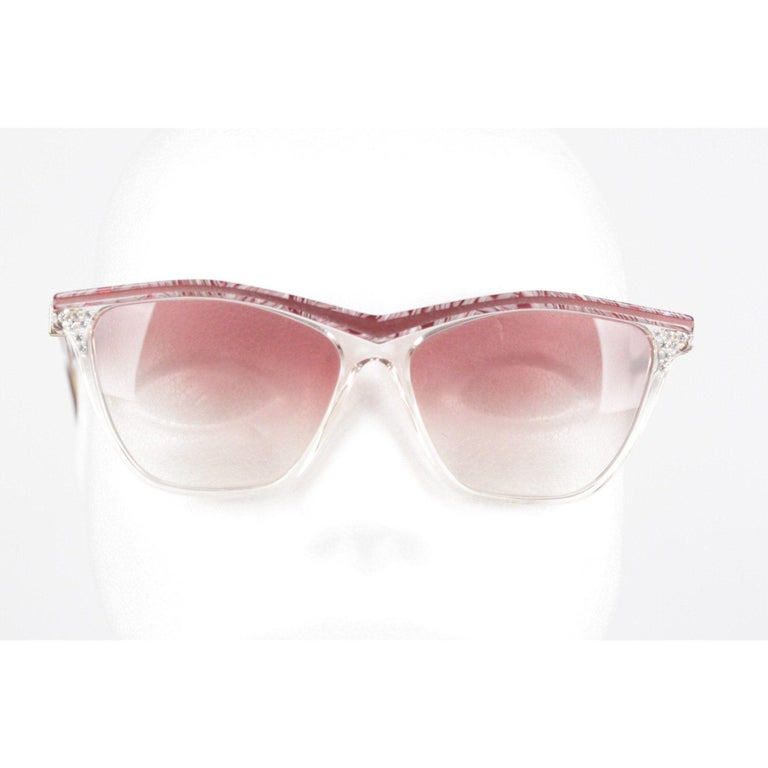 YVES SAINT LAURENT Vintage MINT Sunglasses HYRTHIOS 58mm w/Rhinestones For Sale 7